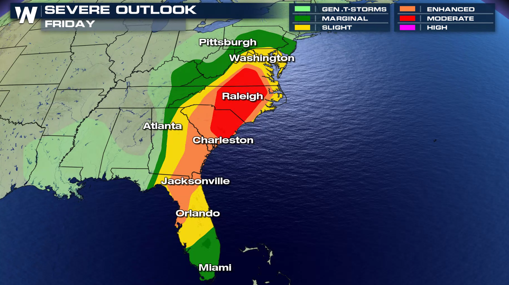 Damaging Winds and Tornadoes Possible for the East Coast ... on thunderstorm risk map, disaster risk map, flood risk map, social media risk map, world bank map, travel risk map, enterprise risk map, tsunami risk map, earthquake risk map, heat risk map,