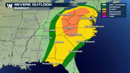 More Severe Storms Expected Sunday