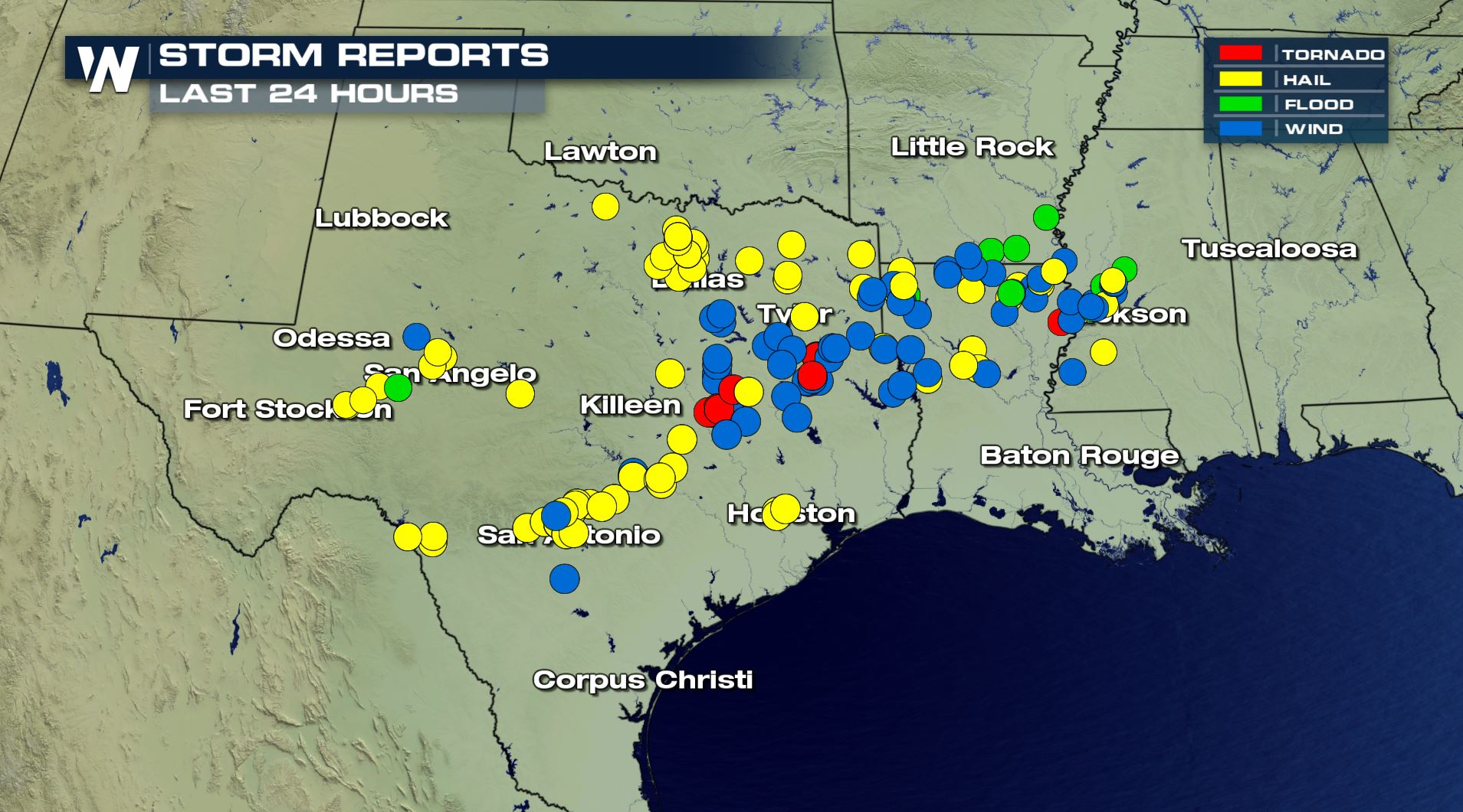 Map Of Texas Storms.Deadly Severe Storms Strike The South Weathernation
