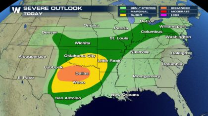 Severe Potential in the Plains and Ohio Valley
