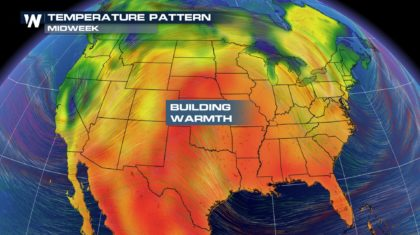 Central Plains heating up through the end of the week