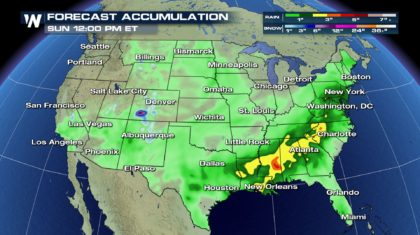 Mother's Day Outlook: Downpours For Some