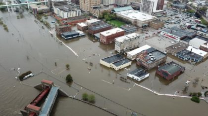Quad Cities Flooding after Barrier Breach from Mississippi River
