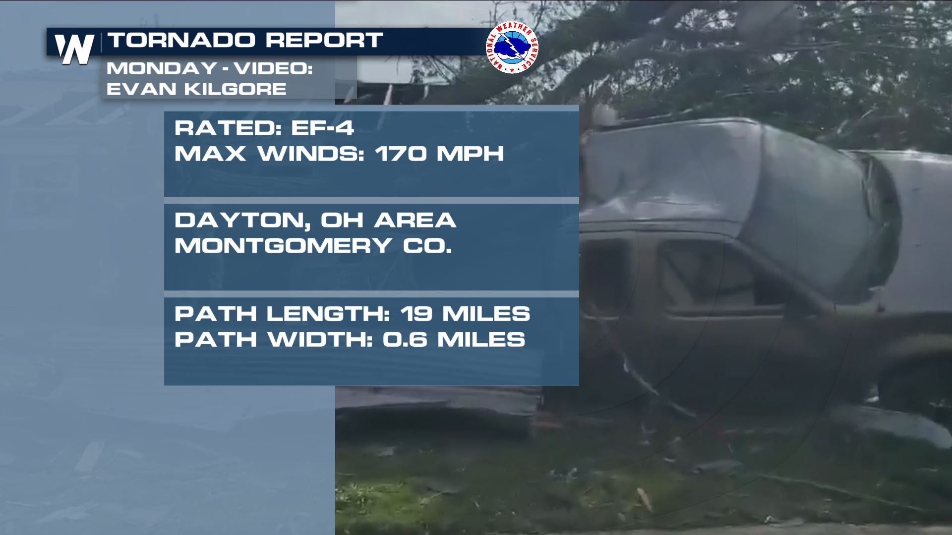 Dayton Tornado Revised Up To EF-4
