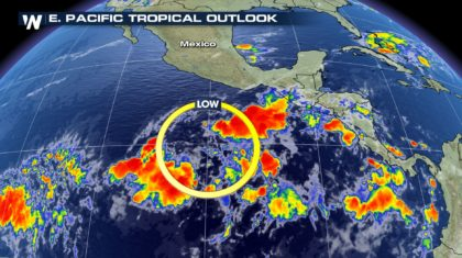 Tropical Disturbance Forms in the Pacific