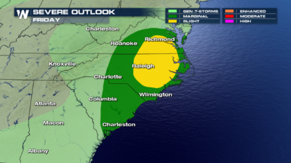 Still A Chance Of Severe Storms Into Friday