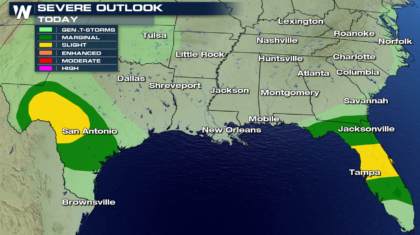 Severe Thunderstorms Likely in Texas Monday
