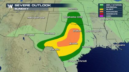 Increased Threat for Severe Thunderstorms in the South