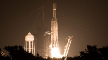 COSMIC-2 Satellites Soar into Orbit Aboard SpaceX Falcon Heavy Rocket