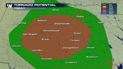 Sunday Severe Storms for the Lone Star State