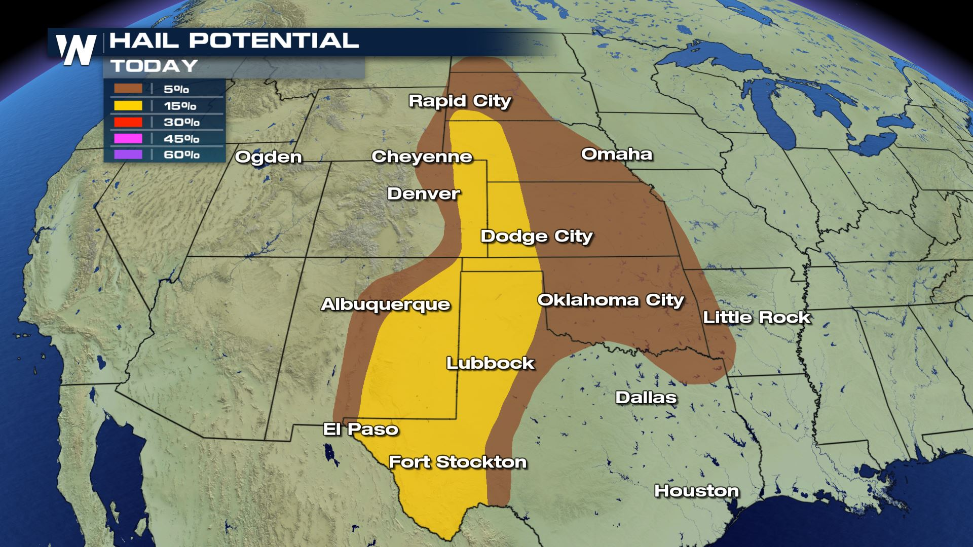 Severe Storms for the Central U.S. on Monday