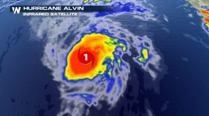 Alvin Becomes The Season's First Hurricane