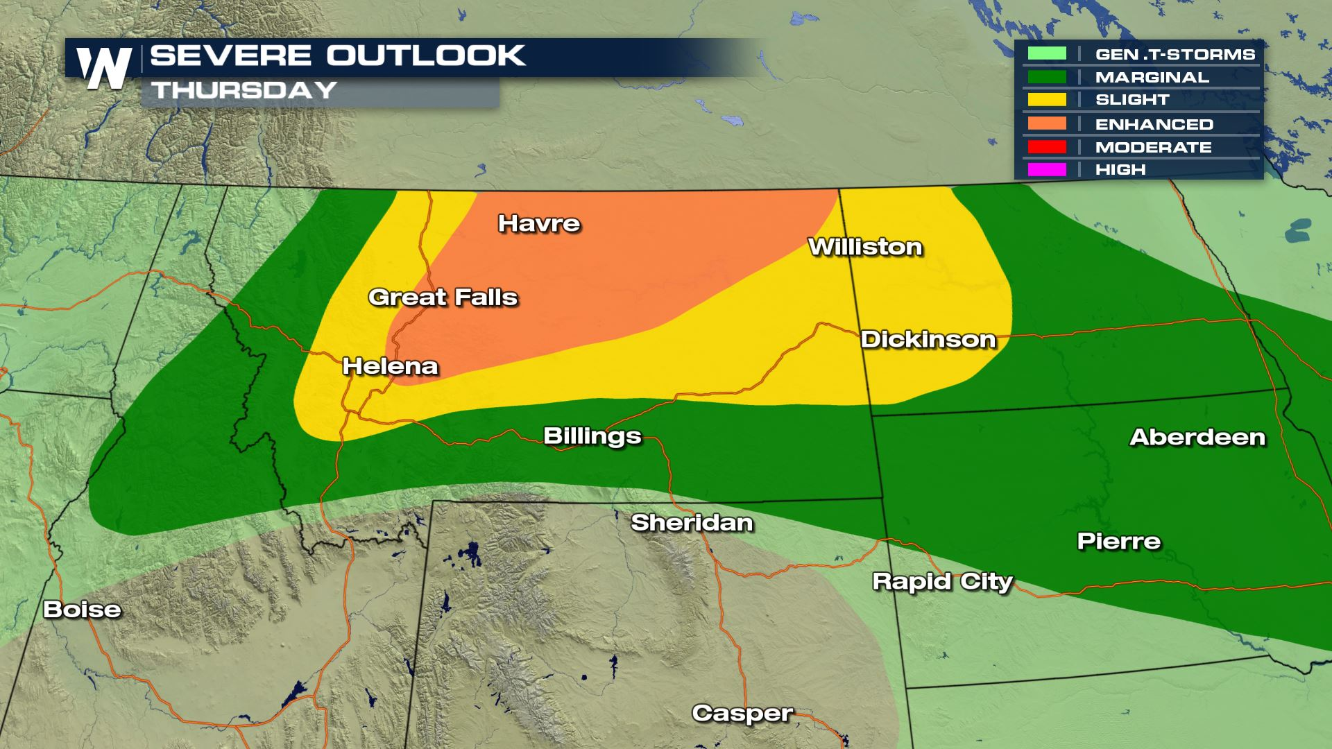 Tornadoes in the Forecast for Montana Thursday - WeatherNation