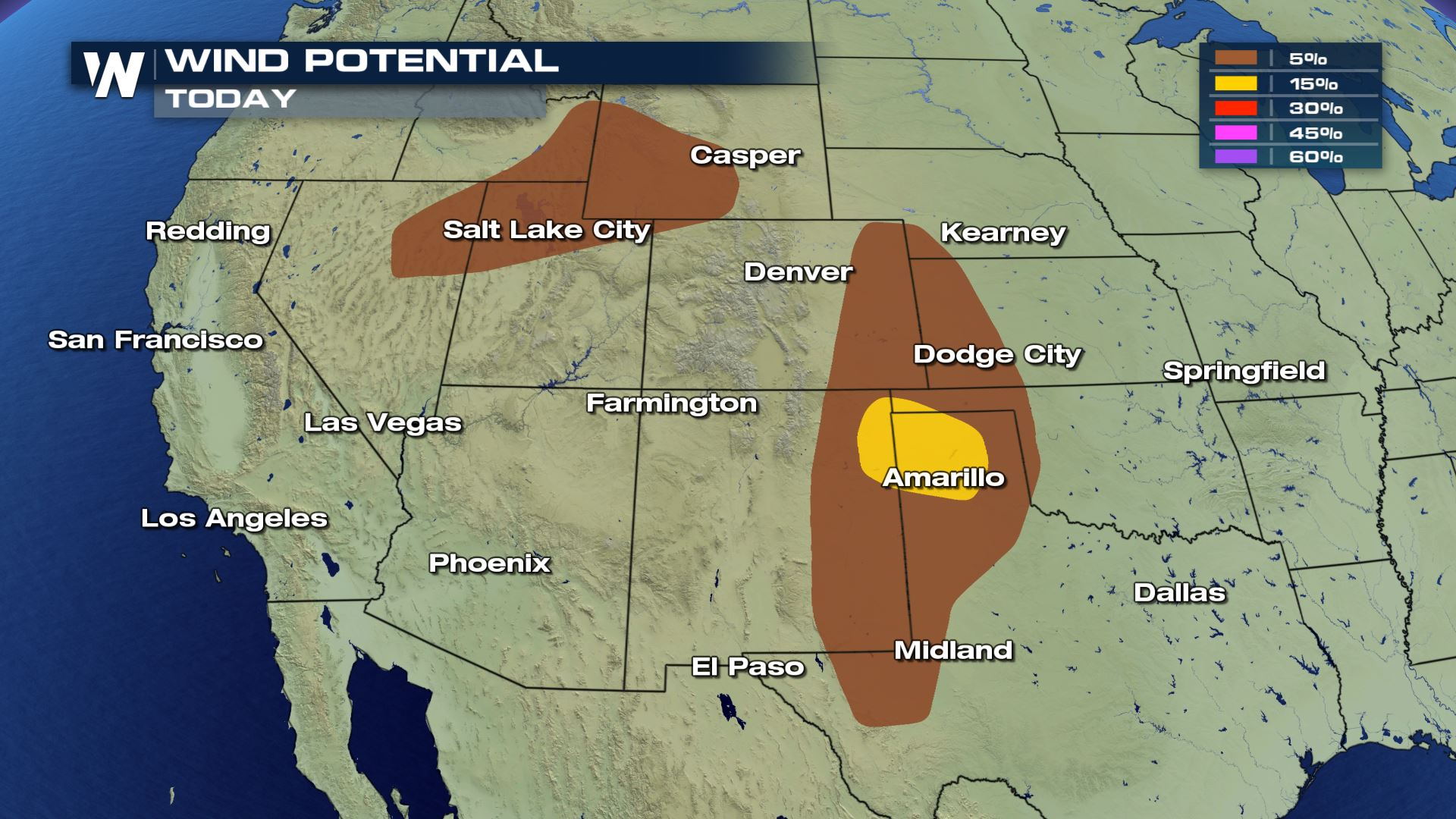 Severe Storm Chances Thursday for the Southern and Central High Plains