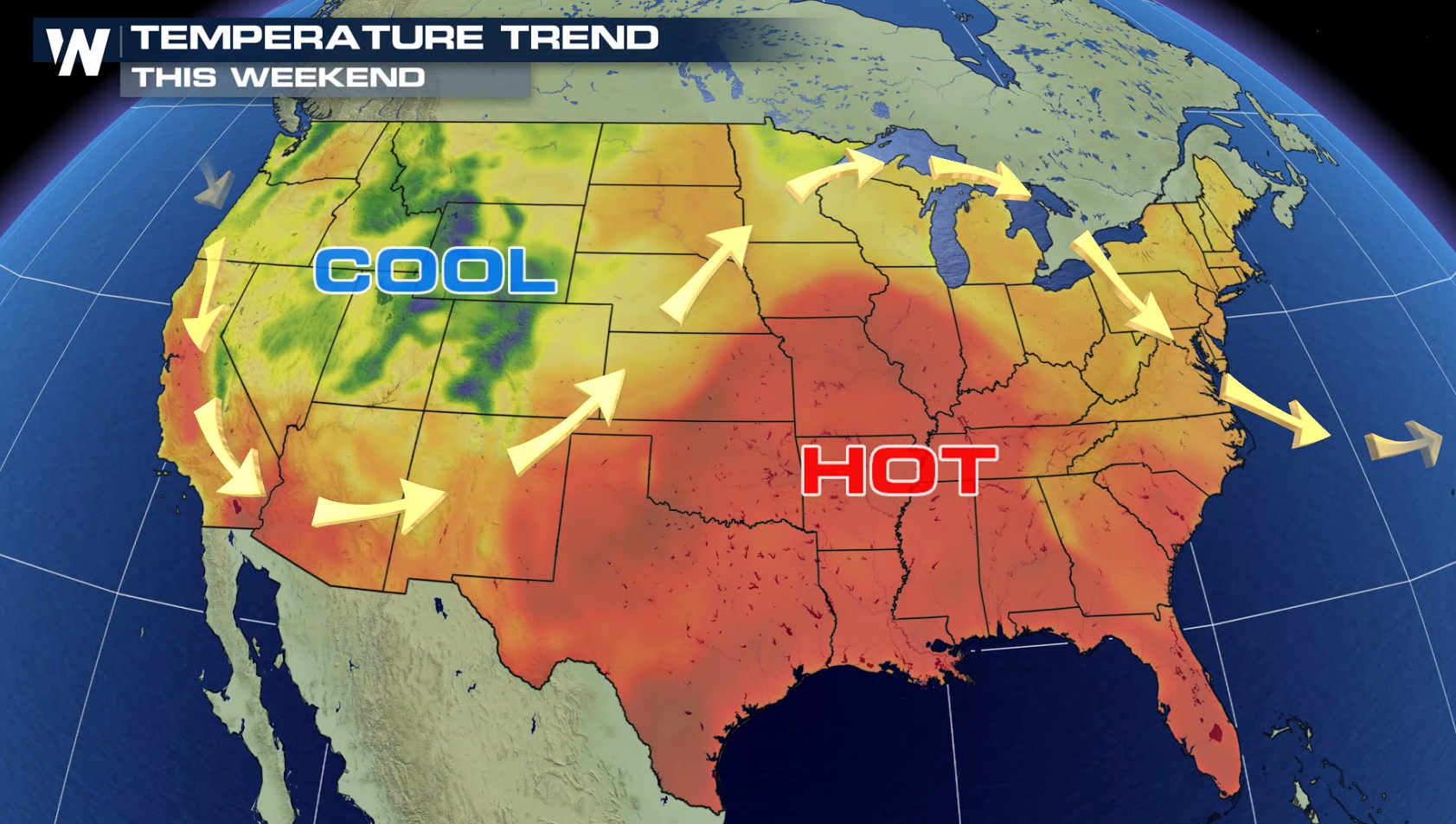 Heat in the Plains and Southeast into the Weekend