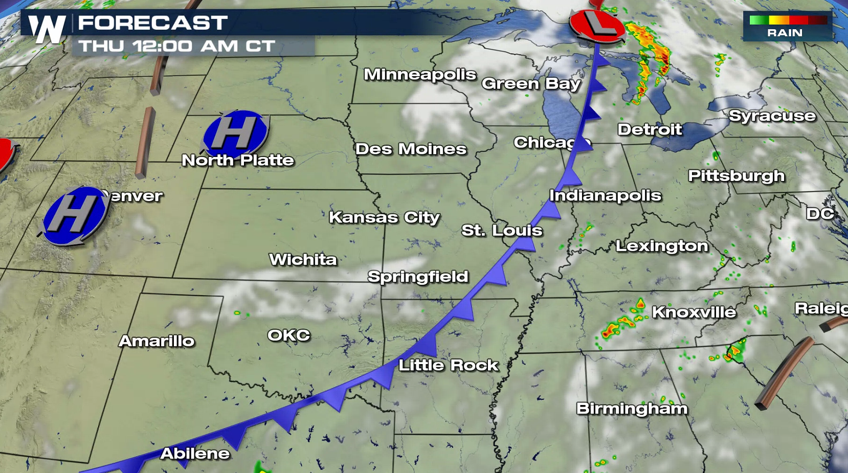 Severe Weather Possible in the Great Lakes and Plains