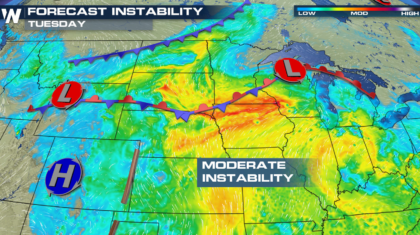 Severe Weather Outlooks for Tuesday and Wednesday