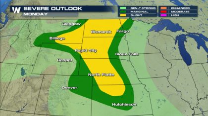 Severe Weather Risk Continues Monday & Tuesday