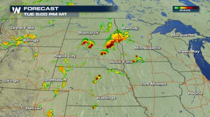 Severe Chances for the Northern and Central High Plains Tuesday