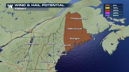 Severe Storm Chances for Maine Tuesday