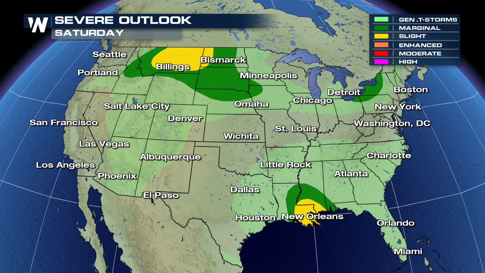 Severe Storms Possible in the Northern Plains into the Weekend