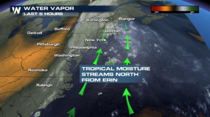 Erin No Longer Tropical, Remains Well Offshore In The Atlantic