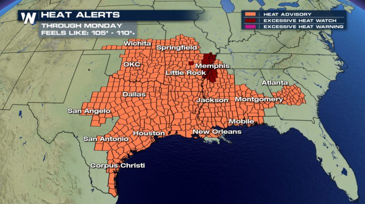Heat Streak Continues for Parts of the South - WeatherNation