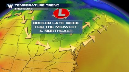 Cooler Temps On The Way For The Northeast