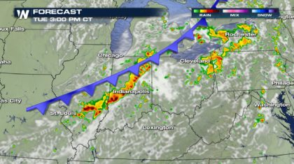 Damaging Wind Risk for the Ohio Valley Tuesday