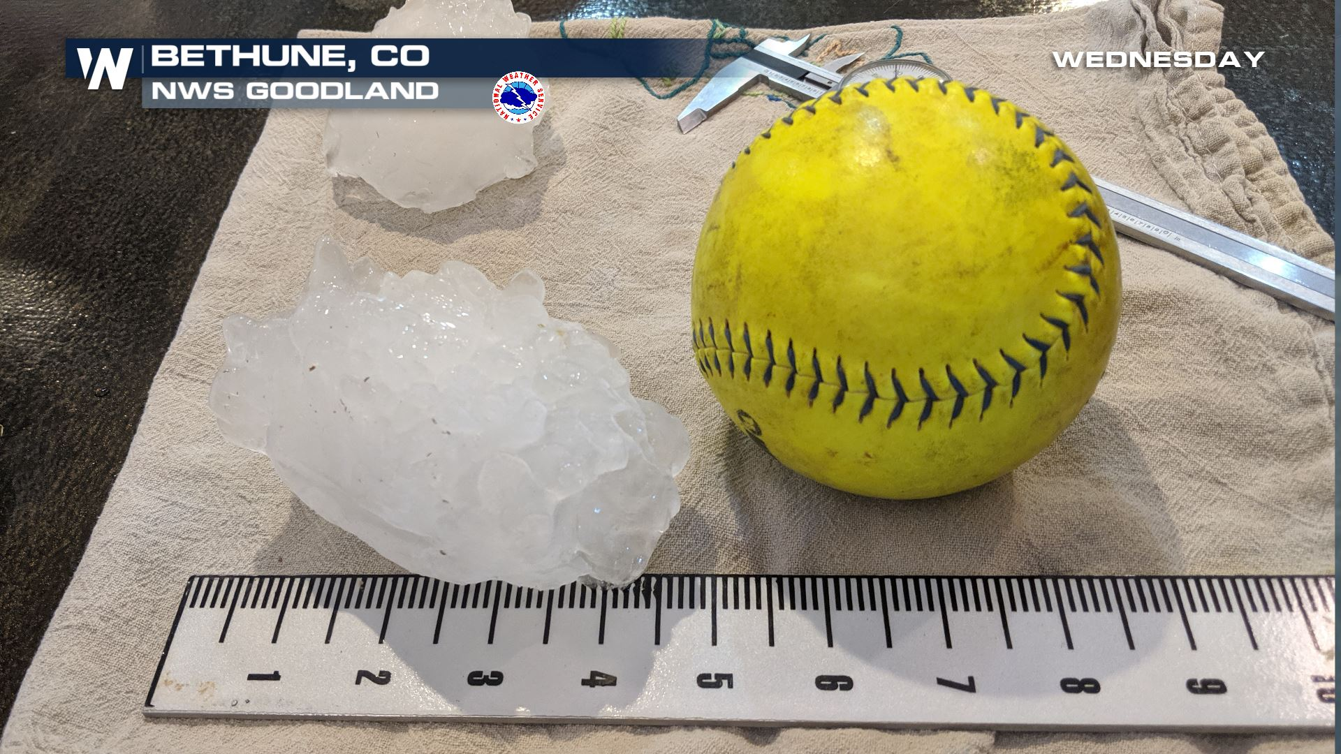 Preliminary State Record For Largest Hail In Colorado