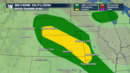 Storms Impact the Central Plains Overnight