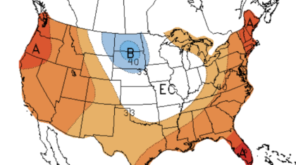 September Outlook - Warmth for Much of the Nation