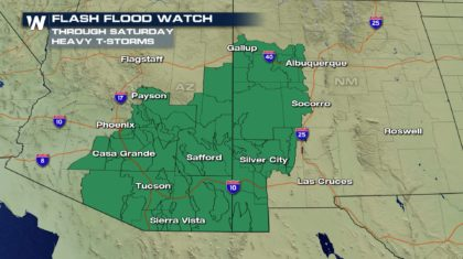 Flash Flooding Becoming Likely Saturday
