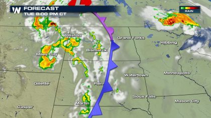 Northern High Plains and Upper Midwest Severe Storm Chances Tuesday