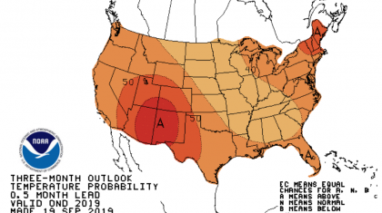 Warmth Ahead in NOAA End of Year Outlook