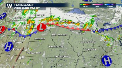 Severe Storms Wednesday, Plains to the Great Lakes