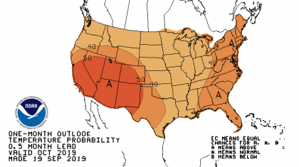 Warmer Than Average Weather Predicted in the October Outlook