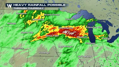 Soaking Rains in the Plains & Upper Midwest