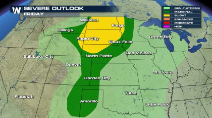 Severe Weather Remains in the Northern Plains