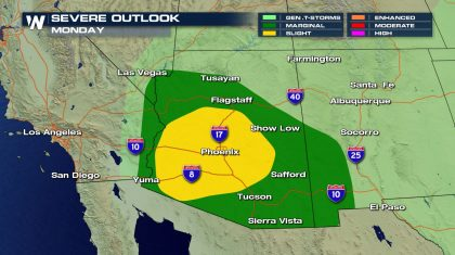 Remnants of Lorena Moisture Impact Southwest