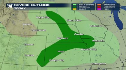 Areas of Severe Weather Through the Weekend