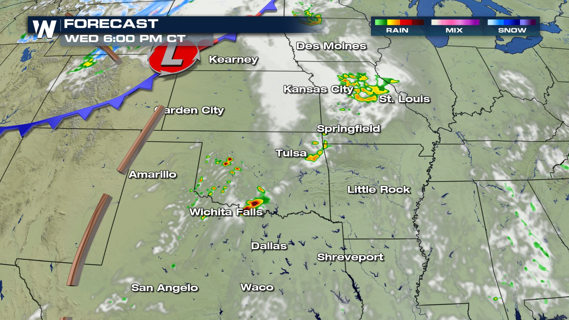 Southern Plains Severe Storm Risk Wednesday