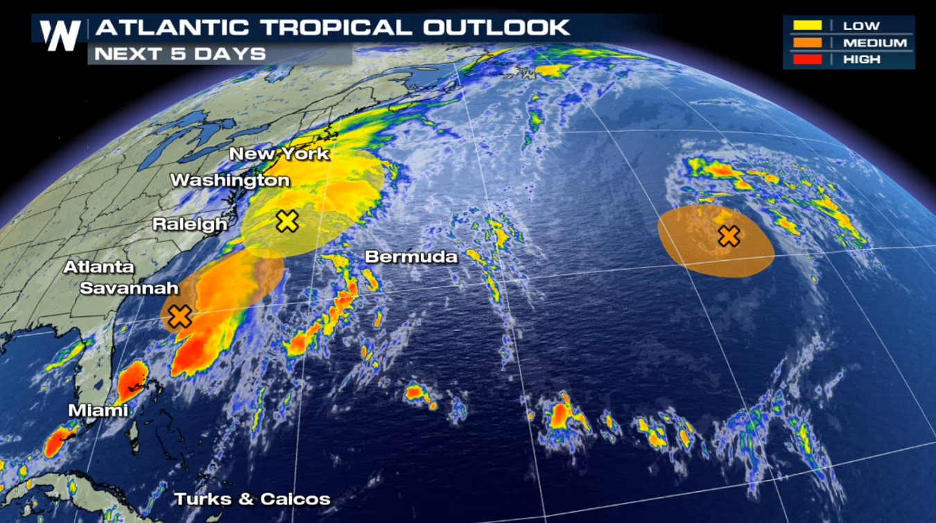 Tropics Update: Areas of Interest in the Atlantic