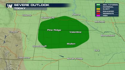 Possible Severe Storms for the Central U.S. into the Weekend