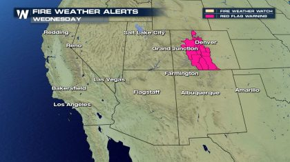 Fire Weather Risk for Colorado Wednesday