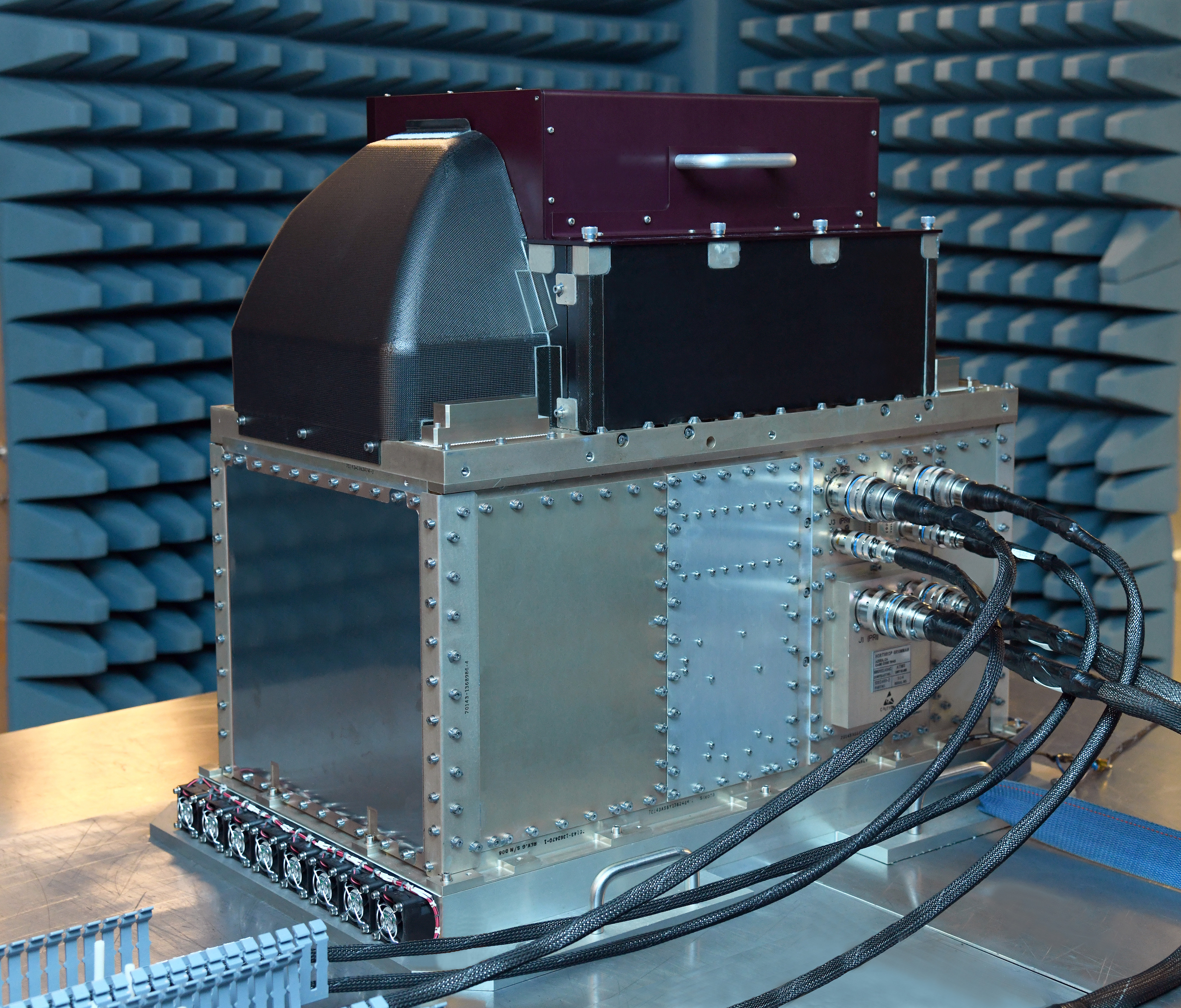 Joint Polar Satellite System's Microwave Instrument Fully Assembled