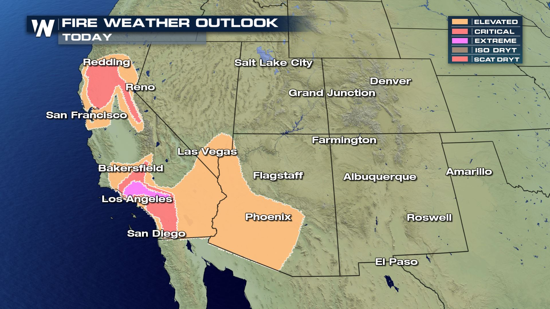 High Fire Danger in the Southwest