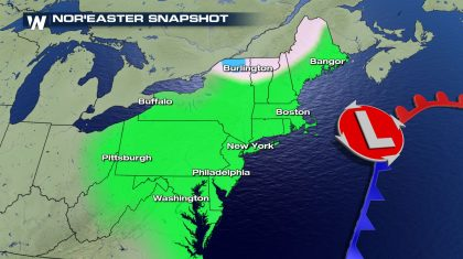 Nor'Easter Developing Wednesday and Thursday