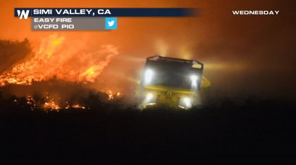 New Wildfire Burning in Simi Valley, CA