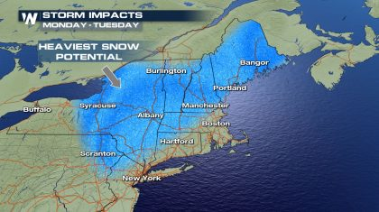 A Foot Of Snow Coming To The Northeast